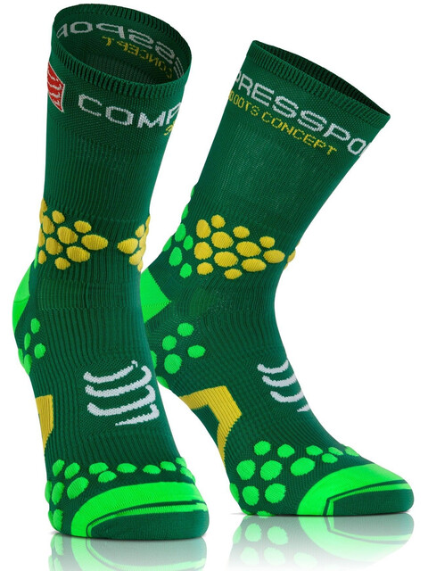 Compressport Racing Socks V2.1 Trail Highcut Running Socks green